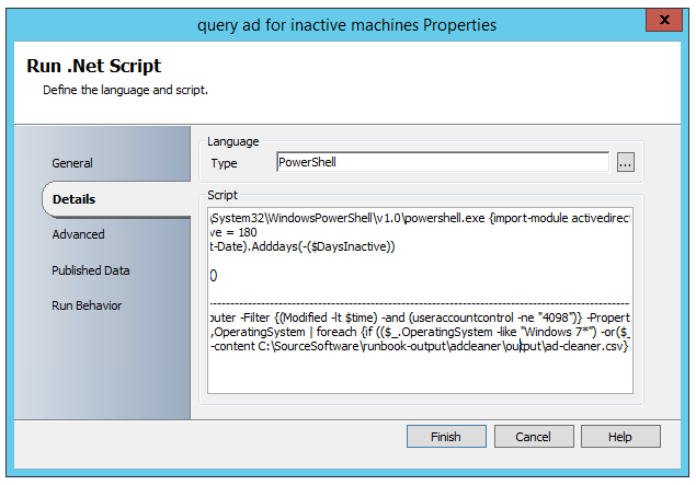 SCORCH : Active Directory Cleanup with Orchestrator | System